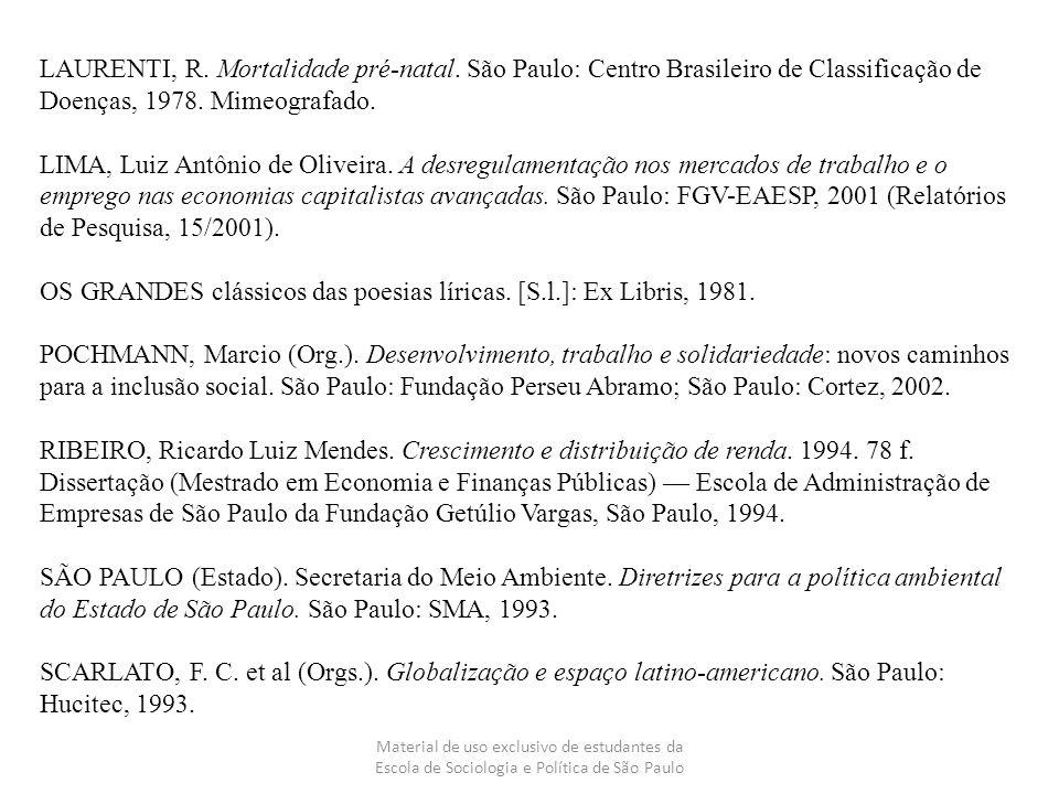 OS GRANDES clássicos das poesias líricas. [S.l.]: Ex Libris, 1981.